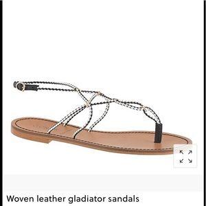 🌴JCrew Sandal Woven Leather Gladiator Sandals